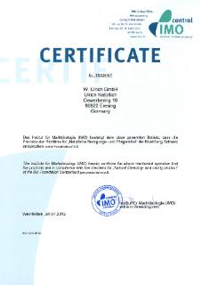 IMO-Zertifikat